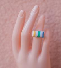 Podesivi prsten - svilena bombona