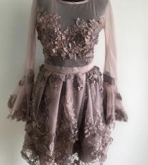 3D ljubicasta haljina