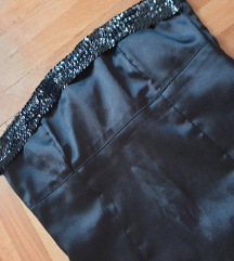 Crna mini top haljina