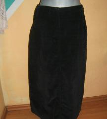 Crna pamučna somot suknja vel42