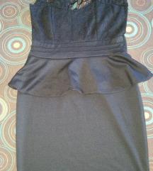 Peplum cipkana haljina XS/S