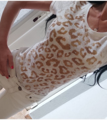 Fishbone majica belo nude