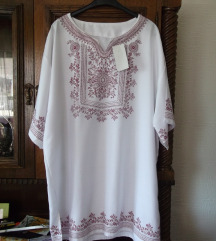 Nova Batik bela letnja tunika sa etiketom