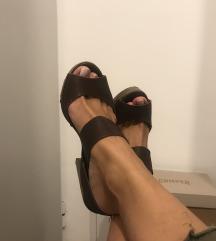 Kožne braon sandale