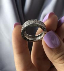 Bulgari prsten sa cirkonima 17mm