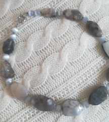 Masivna moćna ogrlica poludrago kamenje