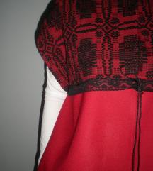 Crveno i crno,kaput,novo,M,L