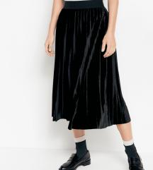 LINDEX plisana suknja velicina XL nova