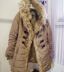 Zimska jakna sa vestackim krznom S