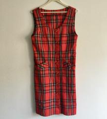 Karirana retro haljina