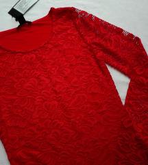 Amisu elegantna cipkana bluza NOVO sa etiketom