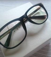 Rezz Crne mat naočare sa srebrnim detaljima