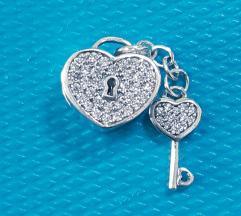 PANDORA zaključana ljubav srebro