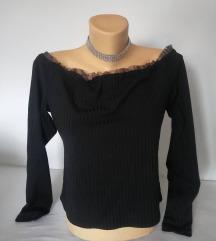 Primark Crna majica gola ramena L