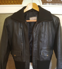 Crna kozna jakna-prava koza