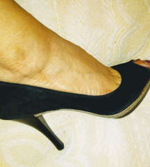 Geox crne kožne sandale 38 kao nove