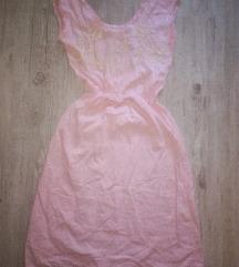 Puder roze midi haljina *NOVO*