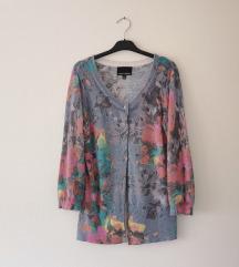 CYNTHIA ROWLEY floral džemper od angore!