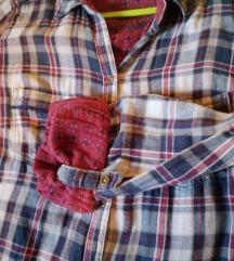 Teget-bordo karirana košulja S