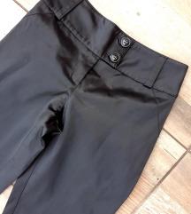 Satenske crne pantalone XXS/XS