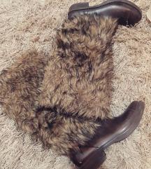 Gumene cizme sa krznom braon