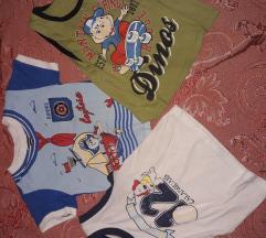 Tri majice za dečaka za 300 dinara