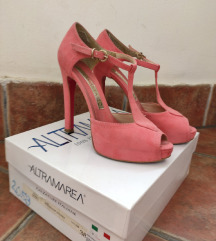 Roze altamarea sandale na štiklu br.38, 12,5cm