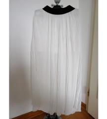 Bela plisirana suknja