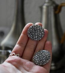 Unkatne okrugle  minđuše od sedefa