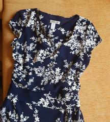 Teget cvetna haljina***NOVA, nenosena (42/44/46)