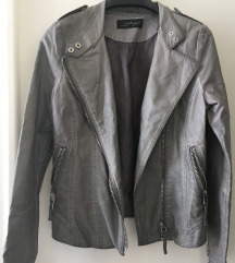CINDY CRAWFORD siva kožna jakna - M