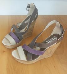 Sivo - ljubičasta sandale