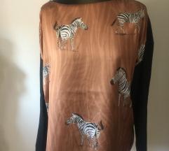 ZARA Bluza sa životinjskim printom- NOVO