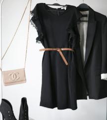 Koton crna haljina sa leptir rukavima