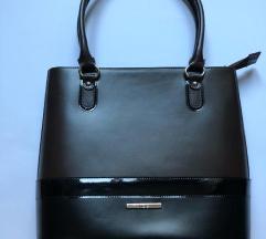 Elegantna MONA crno/braon ženska tašna