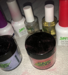 SNS NAILS ceo set, tehnika za nokte bez UV lampe