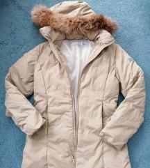 SERGIO TACCHINI, perjana jakna, prirodno krzno