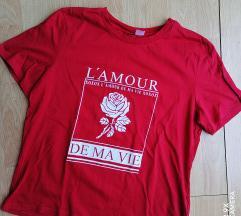 H&M crvena nova majica L