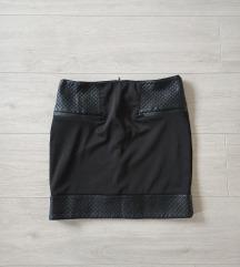 Crna kratka suknja