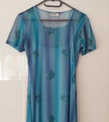 Plava haljina 2u1