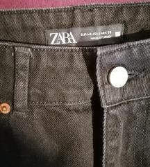 Zara wide leg crne farmerice