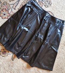 Crna kozna suknja ⚡1500