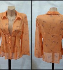 AKCIJA-Prelep naranđž bluza-kardig-košulj-kao NOVA
