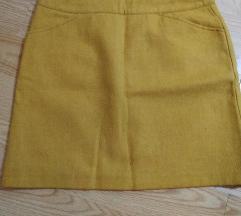 Žuta suknja vuna