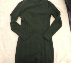 Tamno zelena zarina haljina