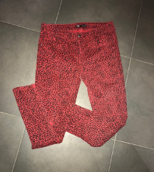 ZARA animal print uske farmerice