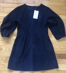 Zara nova somot haljina