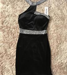 crna haljina sa sljokicama