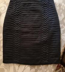 Nova svecana H&M crna satenska pencil suknja L