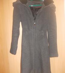Kaput Zara sivi strukiran